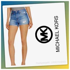 Michael Kors Distressed Jean Shorts Size 6
